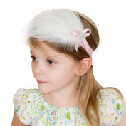 DZT1968(TM)2015 Cute Baby Girls Headband Feather Flower Headwear Hair Accessories