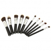 F-Dorla New 10pcs Professional Women Makeup Cosmetic Brush Set Blending Shadow Powder Foundation Eyeshadow Blush Brushes