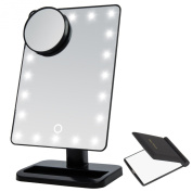 Miss Sweet LED Cosmetic Mirror Table Mirror,Soft Touch 10X