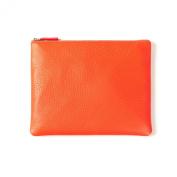 Medium Pouch - Full Grain Leather - Orange