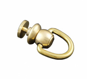 High-quality Brass Screw-Eye of Steel Wallet Purse Chain Connector Biker Rock