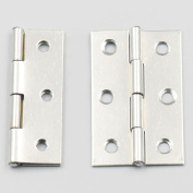 Bluemoona 20 Pcs - Cabinet Drawer Door Stainless Steel Butt Hinges Furniture Hardware With Screws 35x55mm