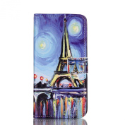 Galaxy S7 Case, SAVYOU - Painted Relief S7 Phone Case Flip PU Leather Wallet Flip Magnetic Button Practical Cover Case Stand Cover for Samsung Galaxy S7
