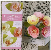 DIY Paper Flower Camellia Artificial Flowers for Decorative Paper Gift Wedding Party - 6 Designs
