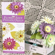 DIY Paper Flower Pinnate Dahlia Artificial Flowers for Decorative Paper Gift Wedding Party - 6 Designs