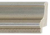 Picture Frame Moulding (Wood) 5.5m bundle - Traditional Silver Finish - 5.1cm width - 1.7cm rabbet depth