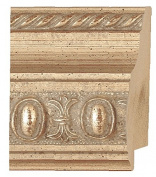 Picture Frame Moulding (Wood) 5.5m bundle - Traditional Silver Finish - 6.4cm width - 1.9cm rabbet depth