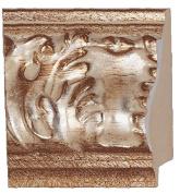 Picture Frame Moulding (Wood) 5.5m bundle - Ornate Antique Silver Finish - 8.9cm width - 2.7cm rabbet depth