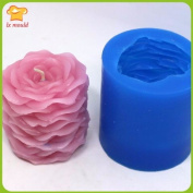 Double rose candles soap mould silicone mould wedding candles Petals soap mould valentine's day gift