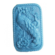 Longzang Peacock Mould S440 Craft Art Silicone Soap Mould Craft Moulds DIY Handmade Candle Moulds