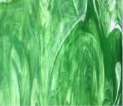 Wissmach Glass Sheet : Dark Green Opal - 3 Stained Glass Sheets