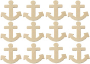 Creative Hobbies® Unfinished Wood Anchor Cutout Shapes, Ready to Paint or Decorate, 10cm Tall, Pack of 12 ...