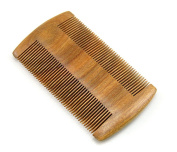 Lianzhi Green sandalwood no static handmade comb,Pocket comb (beard)-Gift Package