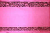 Double Border Tribal Print Fabric Pink