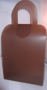 12 Frosted Polypro Closable Gift Tote 17cm X 24cm X 6.4cm Chocolate Colour