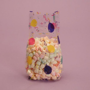 Birthday Party Balloons Theme Printed Clear Cello Treat Bags
