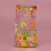 Vintage Style Dots Print Theme Clear Cello Treat Bags