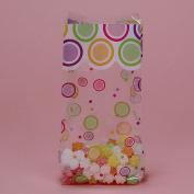 Multi Colour Mod Dots Print Theme Clear Cello Treat Bags