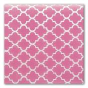 Pink Quatrefoil Design Tissue Paper