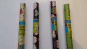 Flomo Assorted Colour 80cm x 150cm Birthay Design Gift Wrap Roll, 1 Roll
