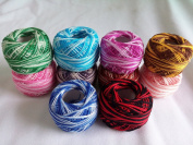 10 rolls 9s/2 100% cotton Stitch Embroidery thread crochet thread Hand cross embroidery thread