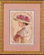 Elegant lady counted cross stitch, cotton thread , 14ct 27x33cm 90x126 Stitch counted cross stitch kits