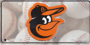 "MLB Baltimore Orioles ""Cap Logo"" Metal Tag Licence Plate"