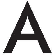 WallCandy Arts Alpha Letter, Wall Sticker
