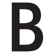 WallCandy Arts Beta Letter, Wall Sticker