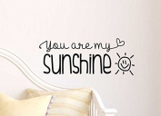 Decalify You Are My Sunshine Cute Wall Vinyl Decal Quote Lettering Art Saying Sticker Stencil Nursery Wall Decor
