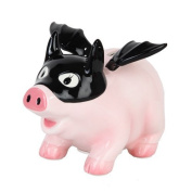 Pacific Giftware Ceramic Bat Pig Savings Piggy/Coin/Money Bank, Pink 17cm