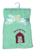 Snugly Baby Fun at the Farm Ultra Soft Embossed Plush Blanket