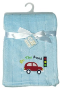 Snugly Baby On The Road Ultra Soft Embossed Plush Blanket