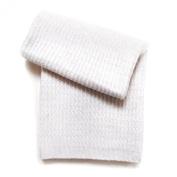 Esteffi Seed-Stitch Wool Blend Baby Blanket, Ivory