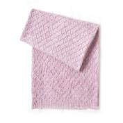 Esteffi Edelweiss Wool Blend Baby Blanket, Pink