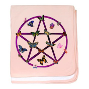 CafePress - Wiccan Star And Butterflies Infant Blanket - baby blanket