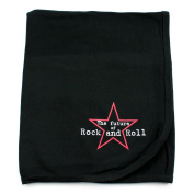 Crazy Baby Clothing The Future of Rock on Black Cotton Swaddling Receiving Blanket Unisex