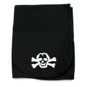 Crazy Baby Clothing White Scribble Skull Black Cotton Swaddling Receiving Blanket Unisex