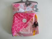 Sweet Lullaby Pink Animal Print 80cm x 100cm Reversible Baby Blanket