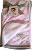 Blankets & Beyond Circles and Chain Pattern Nursery Blanket (70cm x 80cm ) Pink and White
