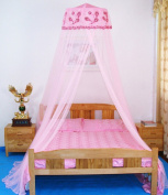 Sinotop Princess Bed Net Canpoy Lace Flowe Pattern Netting Mosquito Net Bedroom Decorative