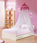 Princess Castle Mosquito Fly Canopy White Pink Dot Net Netting