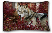 Custom Animal Soft Pillow Case Cover 20*80cm (One Sides)Zippered Pillowcase suitable for Twin-bed