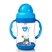 Fentac baby bottle with straw handle lanyard leakproof shockproof Tritan 300ML Safety Healthy Bottle
