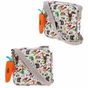 ZOOTOPIA Animal Print Shoulder Bag W/ Carrot Change Purse Disney Store