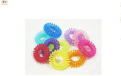 ILOVEDIY 10Pcs Colourful Ponytail Holder Tele Wire Cord Head Ties Hair Band Rope for Kids