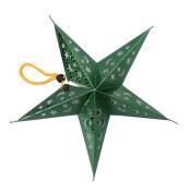 Smile YKK 5pcs Holiday Paper Pentagram Ceiling Pendant Decorations Green Diameter 45cm