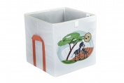 HAPI design Zebra Foldable Storage Box with Side Handlers