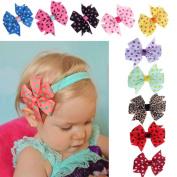 Leoy88 10PC Sweet Babys Girls Chiffon Flower Elastic Headband