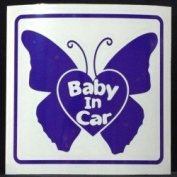Original sticker Baby In Car butterfly (Purple) ST-1105